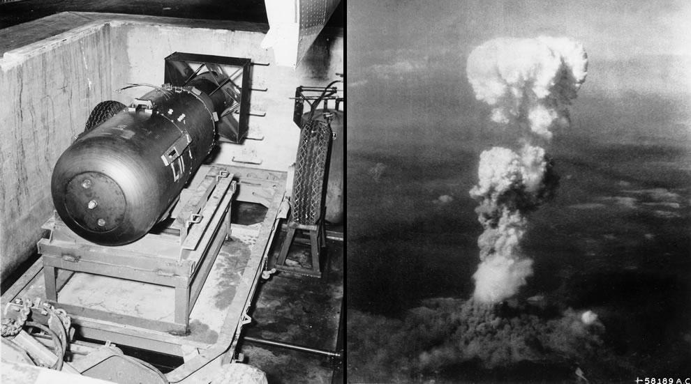 Little Boy atomic bomb made in Oak Ridge and dropped on Hiroshima