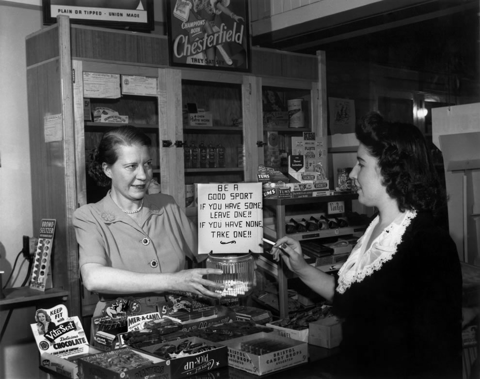 May 1945 Cigarette Gag in Oak Ridge