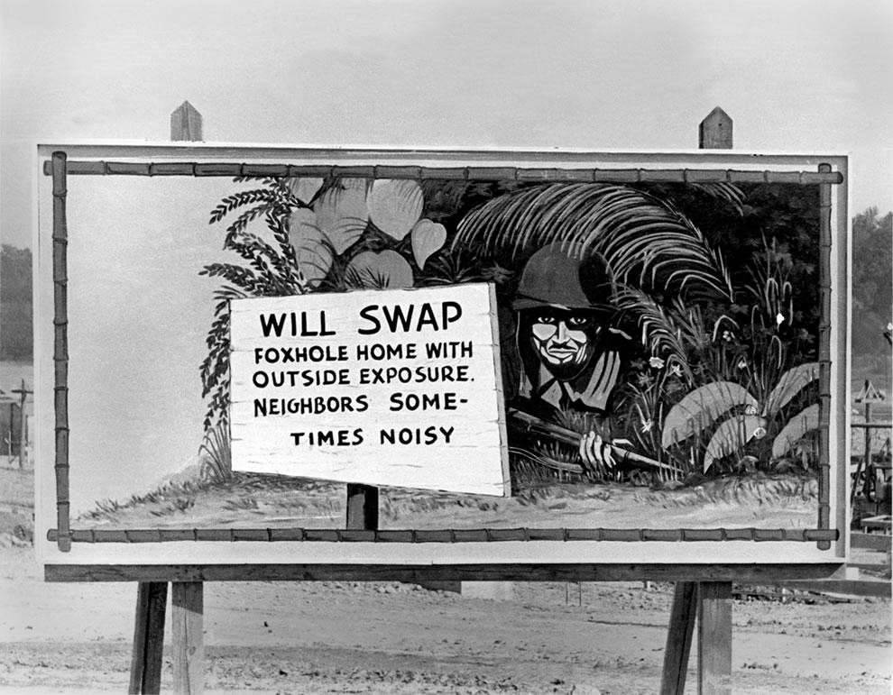 October 1943 Oak Ridge Tennessee Billboard During World War II