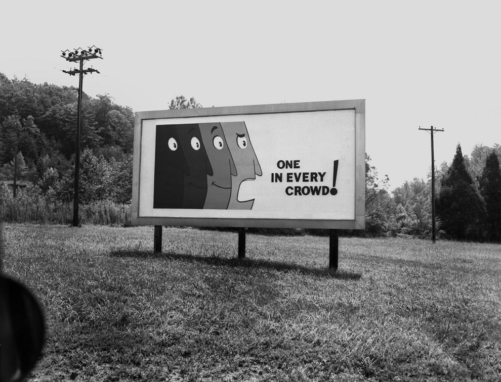 Security Billboard 'One In Every Crowd' Oak Ridge Tennessee 1960