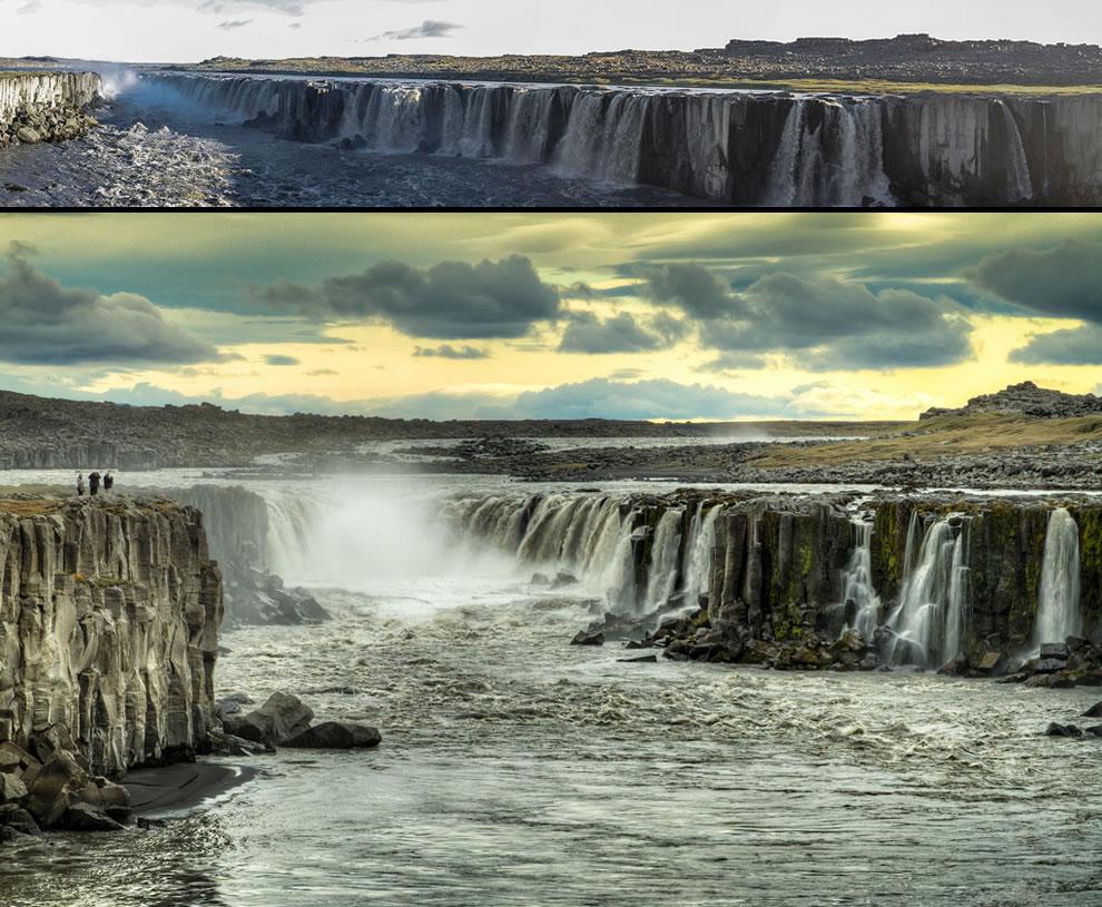 Selfoss waterfall in northern Iceland