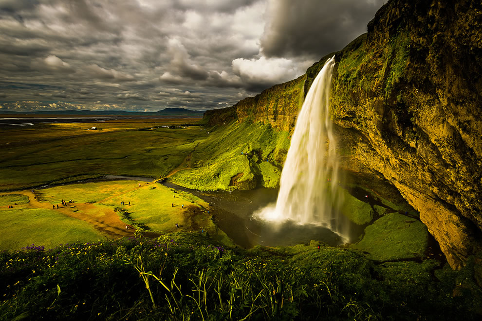 Seljalandsfoss is one of the most famous waterfalls in Iceland