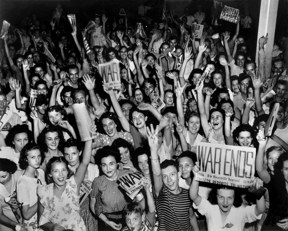V-J day Celebration Jackson Square Downtown Oak Ridge 8-14-1945