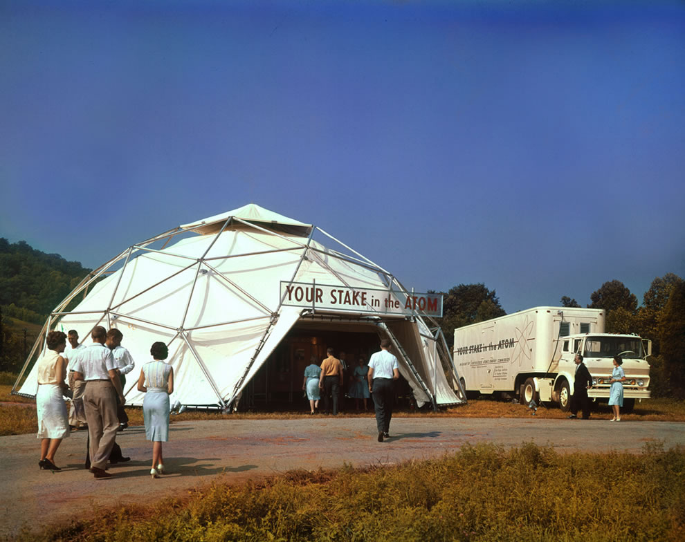 Your Stake in the Atom geodome in 1966 at The Atomic City aka The Secret City, Oak Ridge TN