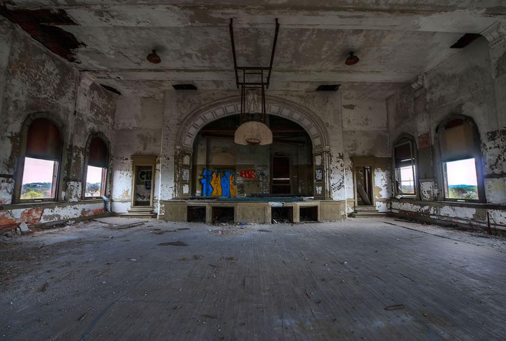 Abandoned School Gym in East Liberty, Pittsburgh