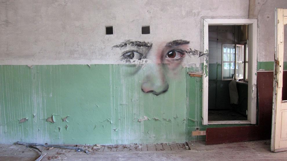 Abandoned school graffiti in Berlin