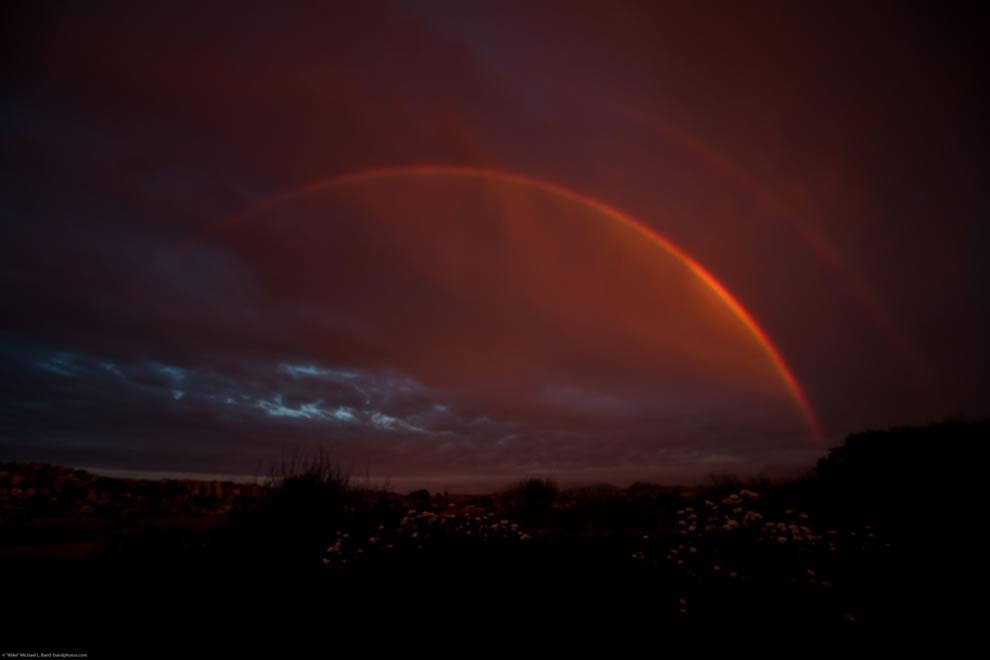 Double Rainbow over Morro Bay CA