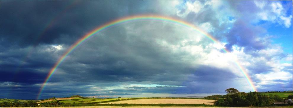 Double rainbow over Devon