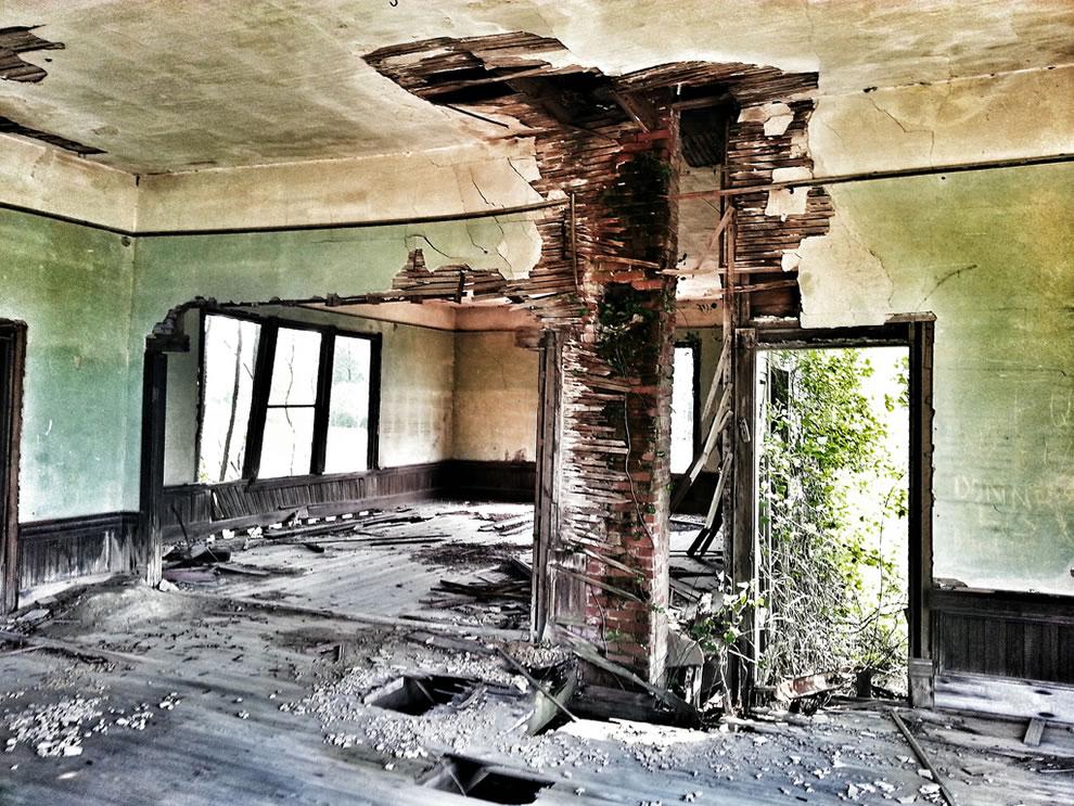 Inside Abandoned Schoolhouse in Smithfield, Virginia