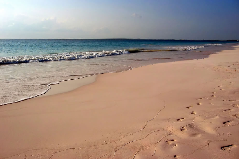 Pink Sands Beach at Harbour Island, Bahamas
