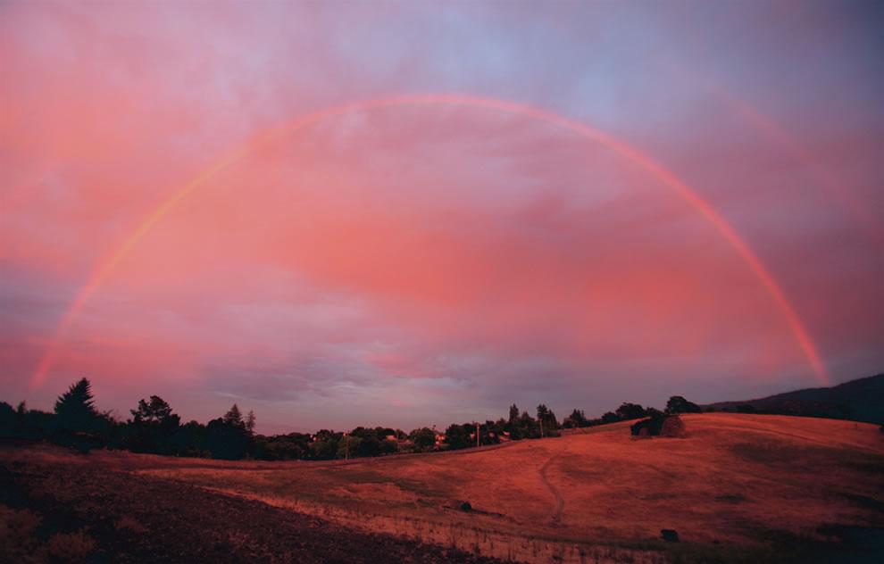 Double Rainbow Sunset