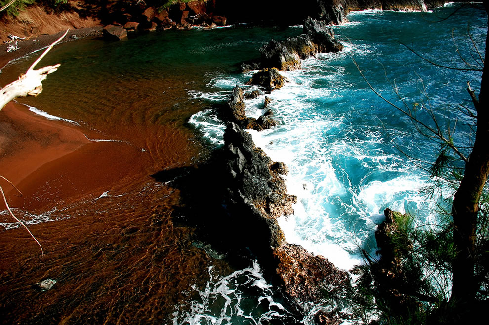 Red Sand Beach at Maui