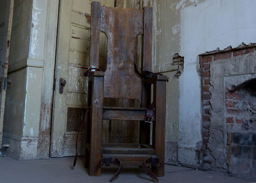 Restraint chair at former Preston School of Industry