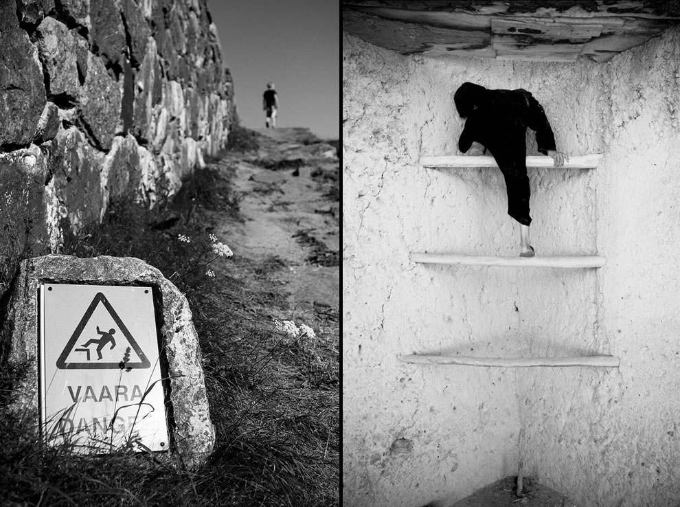 Good luck, kid and child climbing