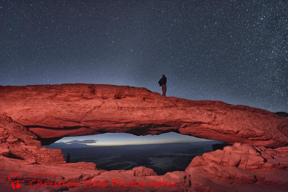 Mesa Arch at Night in Canyonland Utah