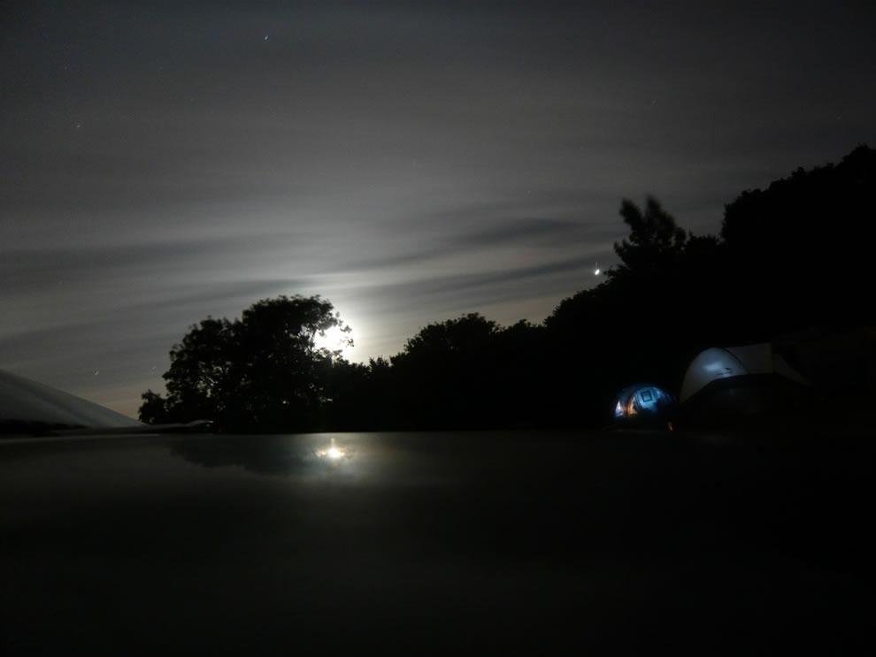 Night camp in Fordingbridge, England, GB