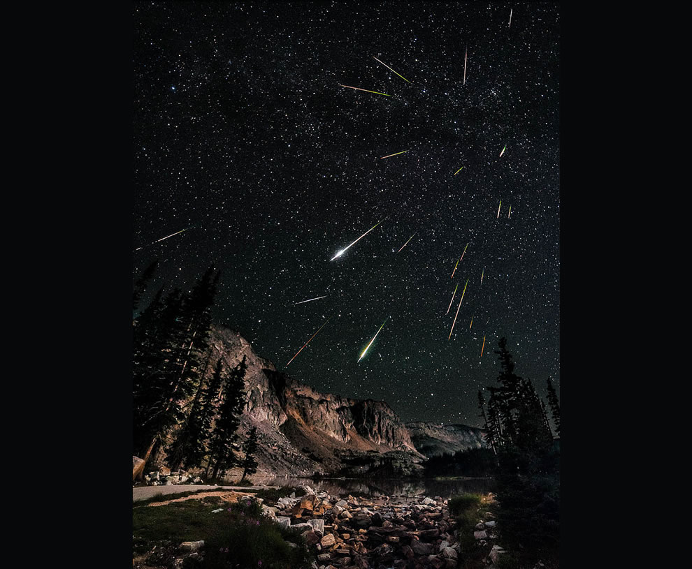 Snowy Range in Wyoming during the Perseids meteor shower