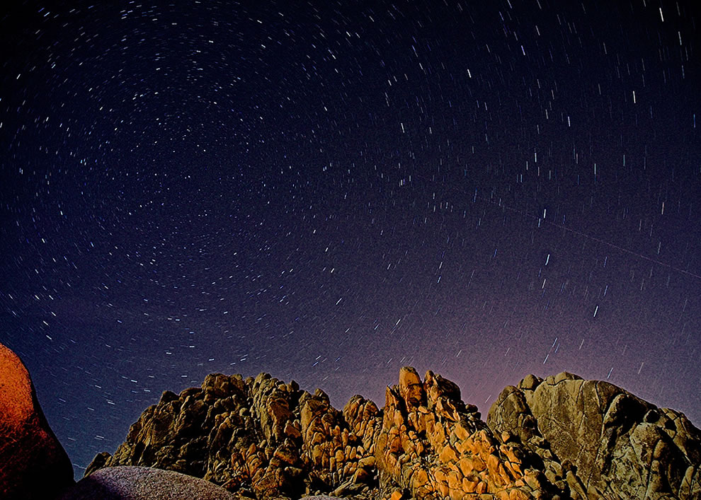 Camping and Stars above Joshua Tree National Park