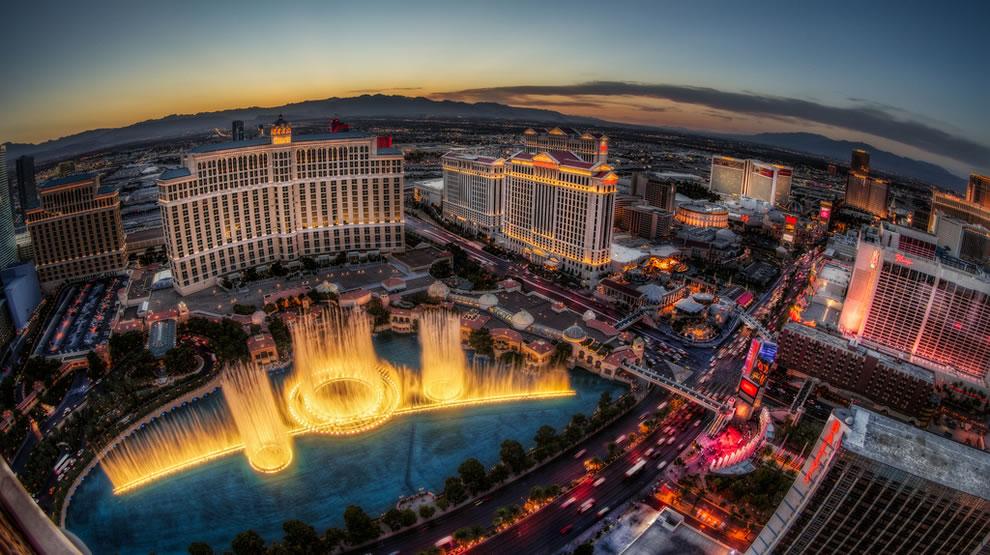 Sunset Fountain Show, Bellagio, Las Vegas