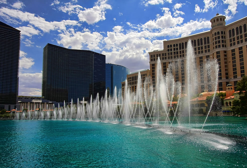 The Bellagio Fountains during the day