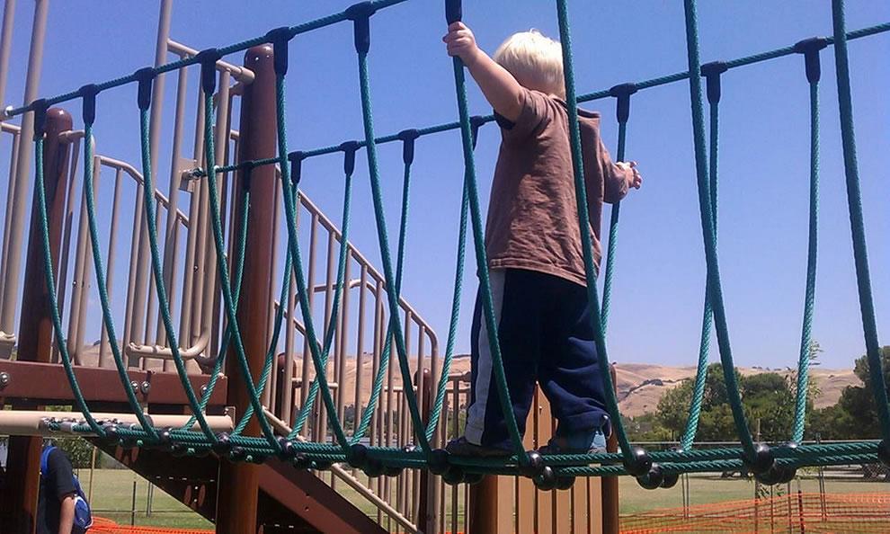 iwillnotsurvivethisboyschildhood, little boy on rope bridge