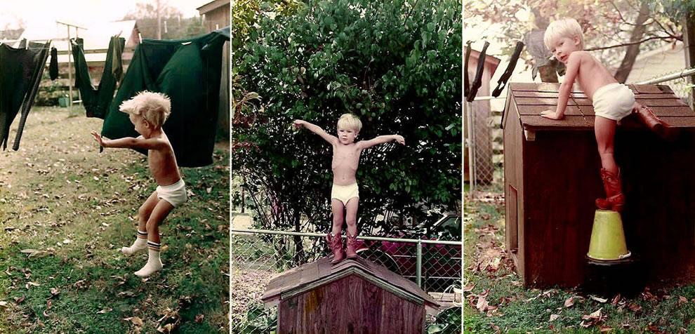 Little boy triptych