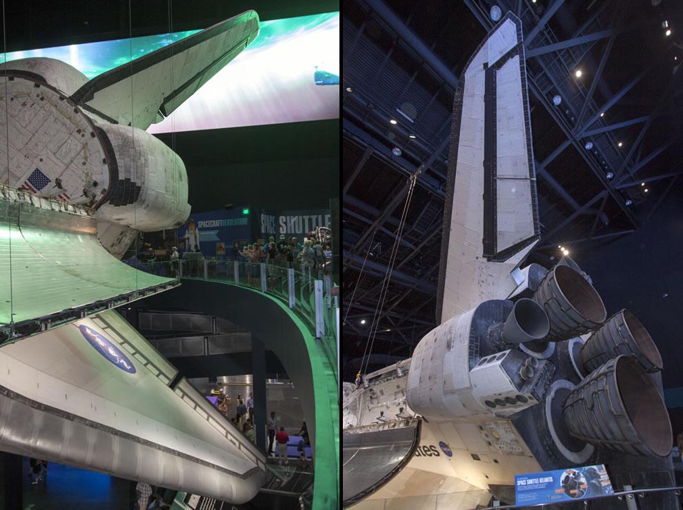 Atlantis Space Shuttle on display at KSC