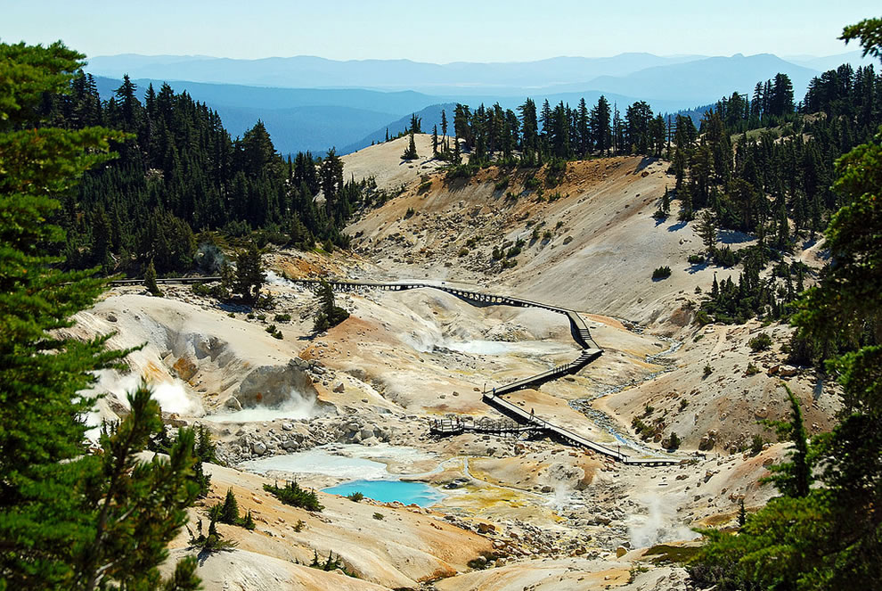 Bumpass Hell at Lassen Volcanic National Park in northeastern California