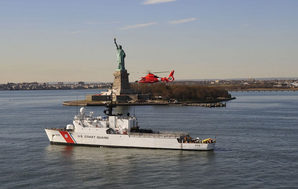 Coast Guard in NYC after devastation of Hurricane Sandy
