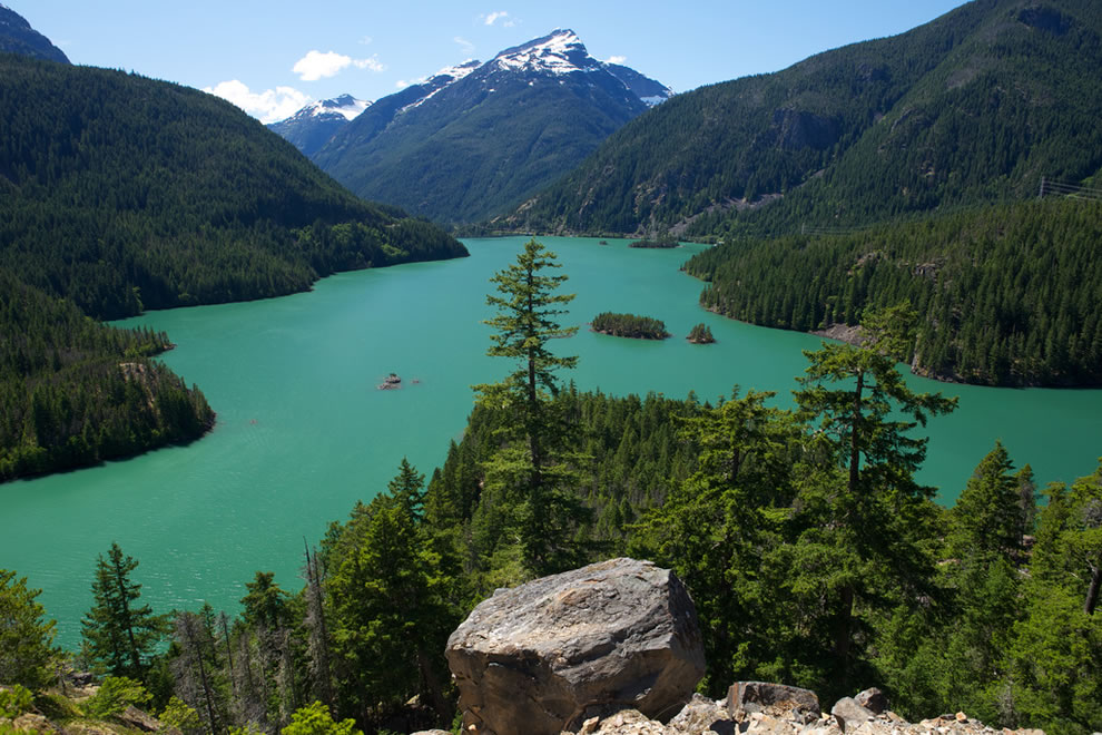 Diablo Lake Overlook at North Cascades National Park on Independence Day