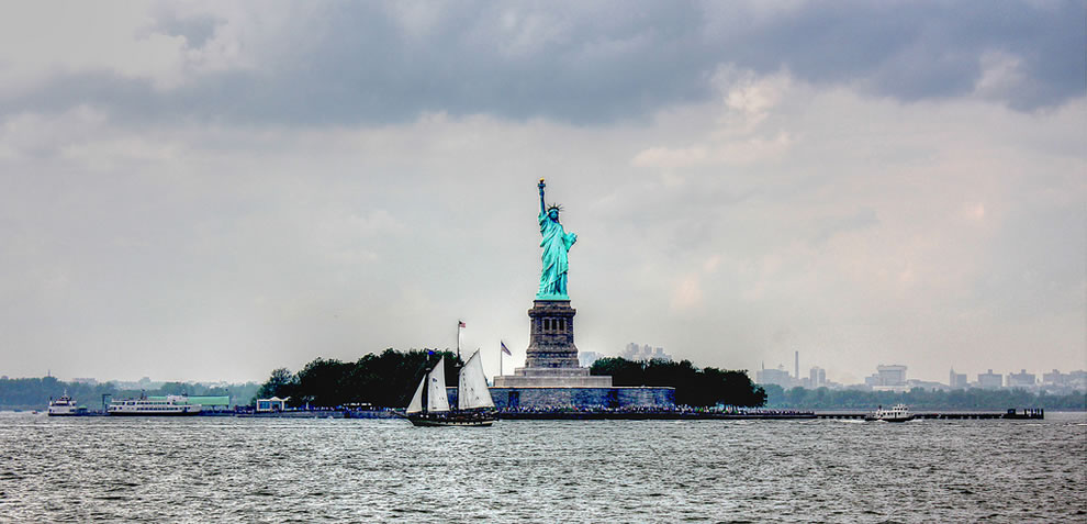 Liberty, lady in the harbor