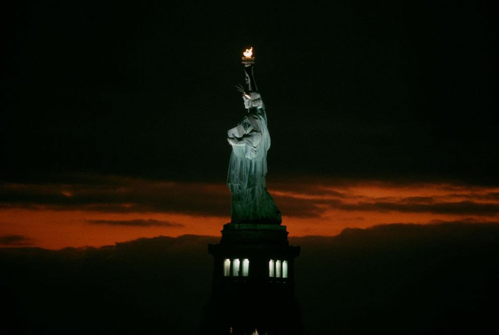 Statue of Liberty National Monument at night