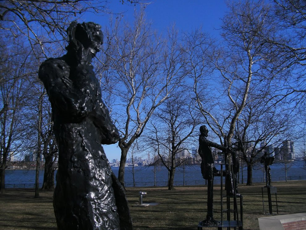 The Sculpture Garden is located on a walkway behind the colossal Statue of Liberty