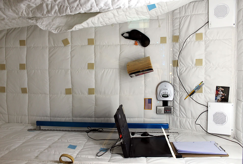 The size and example of where astronauts sleep aboard the ISS