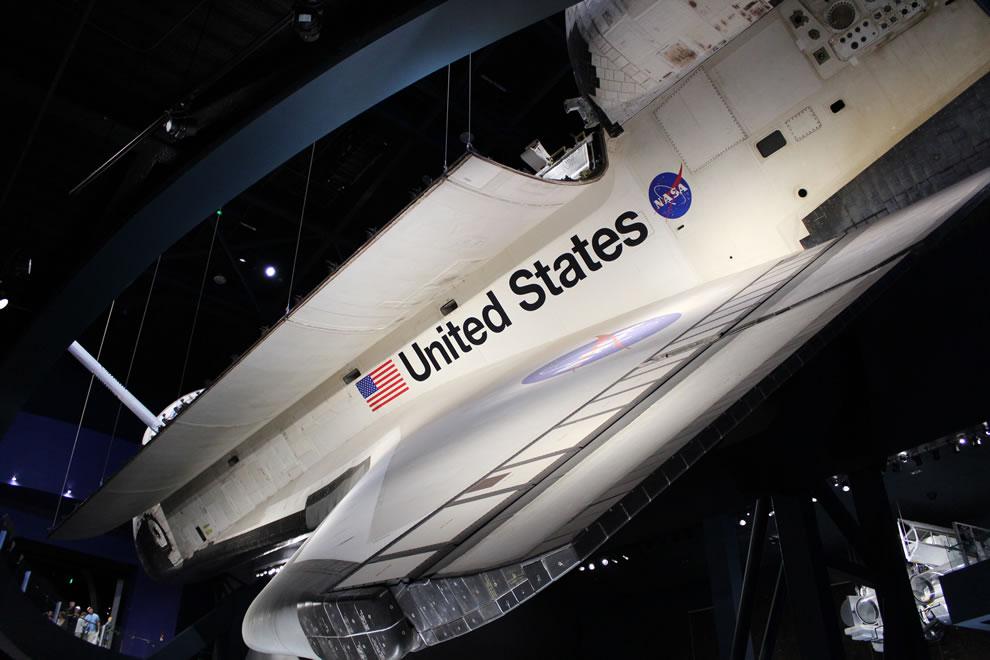 Under Atlantis Space Shuttle