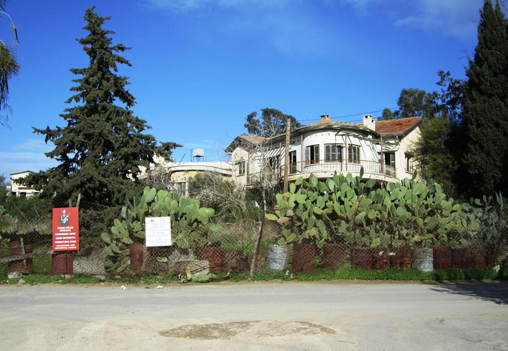 Abandoned homes in Varosha ghost town