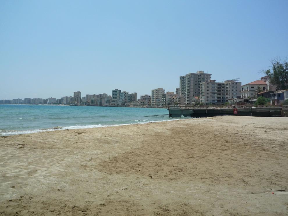 Ghost town Varosha beach resorts