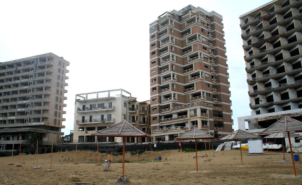 Varosha as seen from the beach 4 years ago, 2009