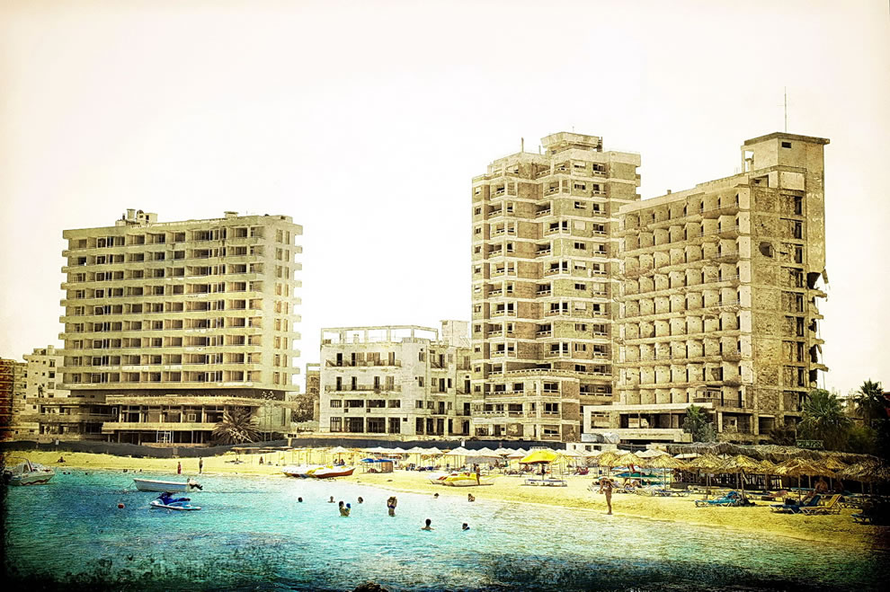 Varosha is a beach paradise and crumbling vacation resort where trespassers will be shot