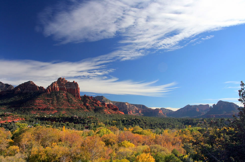 Autumn and fall foliage in Sedona, Arizona