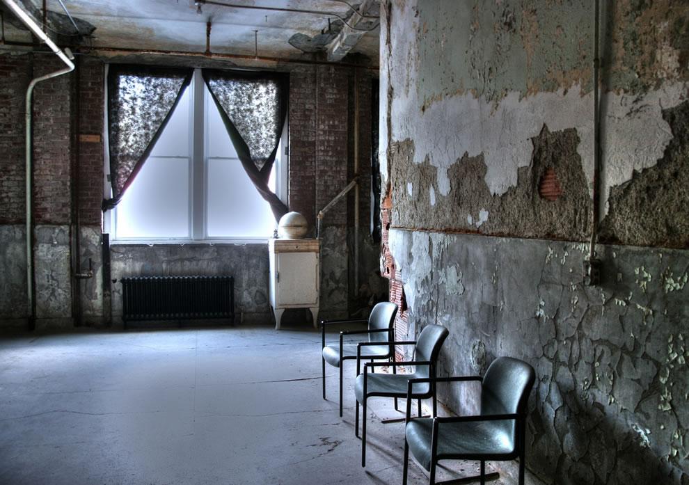 Chairs and Window at Waverly Hills Sanatorium