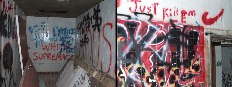 Graffiti inside Waverly Hills