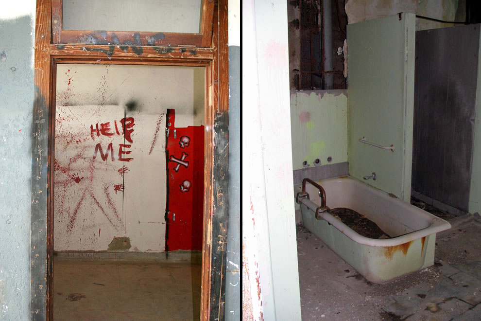 Help me at Waverly Hills, tub in abandoned tuberculosis hospital