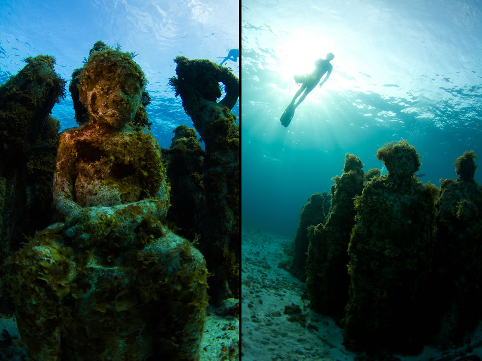 Little girl and Silent Evolution in 2011 at MUSA, Cancun Mexico