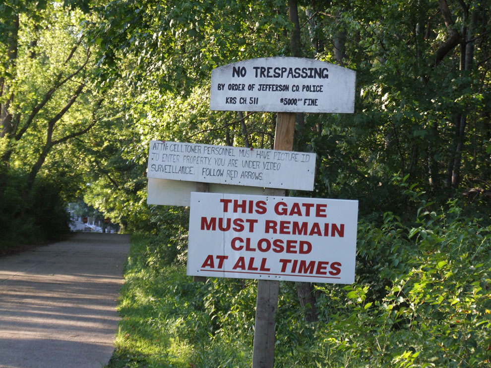 No trespassing at Waverly Hills Sanatorium