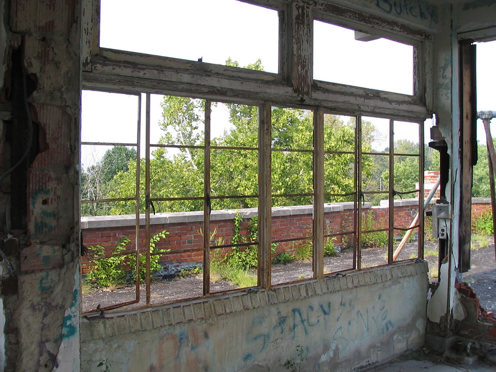 Rooftop windows at Waverly