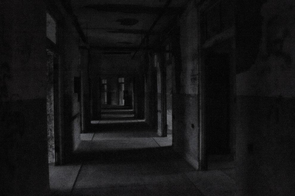 Spooky Waverly Hills corridor