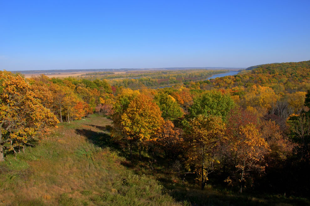 Taken in Indian Cave State Park, southeast Nebraska, over-looking the Missouri River Valley