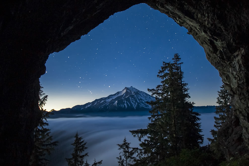 Cave near Mt Jefferson, Pacific Northwest National Forests
