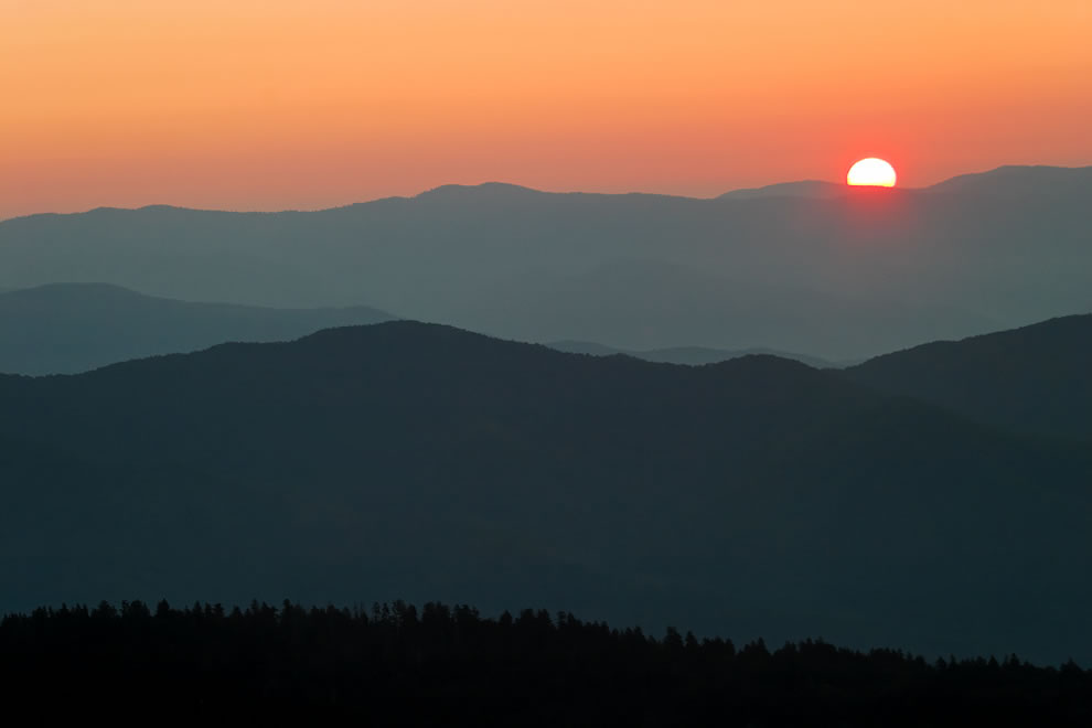Clingmans Dome Sunrise, Great Smoky Mountains National Park